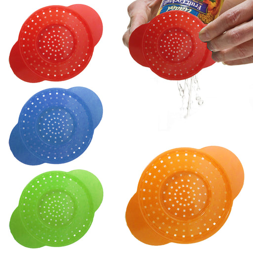3 Pc Can Colander Strainer Drains Food Tuna Veggie Dishwasher Safe Kitchen Tool