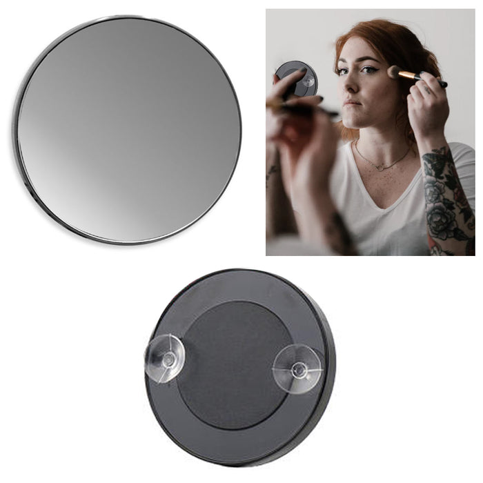 1 Cosmetic Mirror 3x Magnifying Compact With Suction Cups Beauty Macro Make Up !