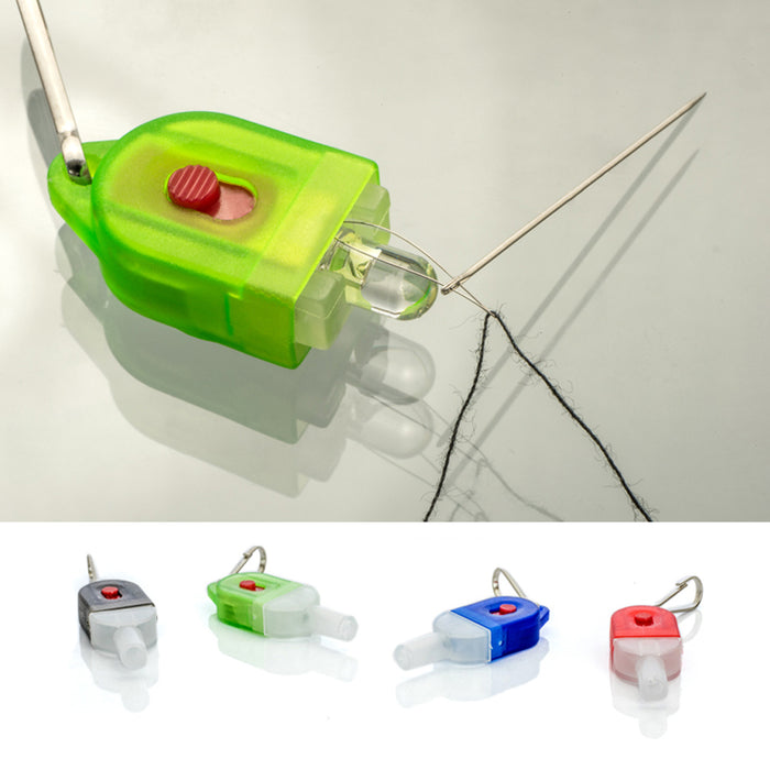1 LED Lighted Needle Threader Small Portable Illuminated Sewing Tools Travel New