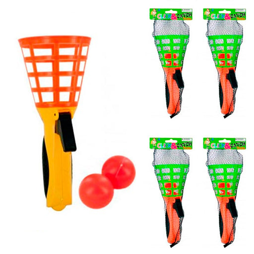 4 Sets Click and Catch Ball Games Party Favor Summer Fun Outdoor Indoor Kid Game