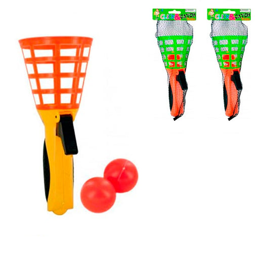 2 Pack Click and Catch Ball Game Party Favor Summer Fun Outdoor Indoor Kid Fun