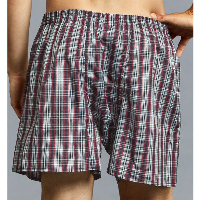 12 Lot Mens Boxers Trunk Plaid Shorts Underwear Size 2XL Comfort Waistband 46-48