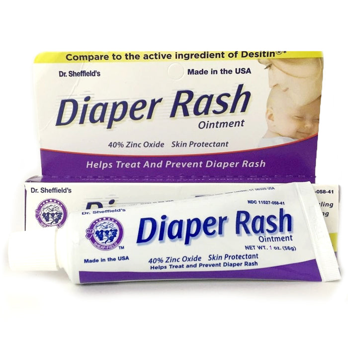 3 Pack Diaper Rash Ointment Tube Cream Paste 40% Zinc Oxide Relief Prevent 1 oz
