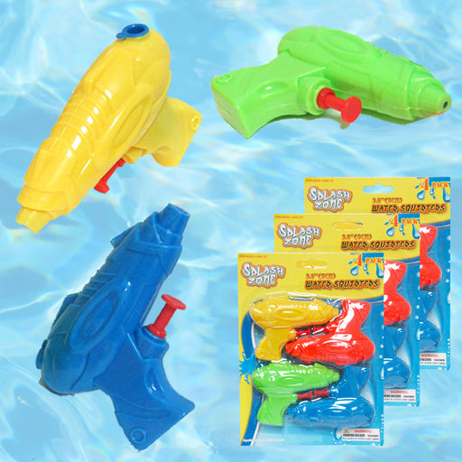 12 Blaster Water Shooter Pump Squirt Kids Toys Bathtub Play Pool Party Beach Fun