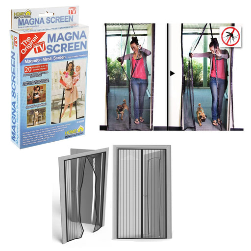 1 Pc Magna Screen Door Net Protector Hands Free Magnetic Mesh Bug Anti Mosquito