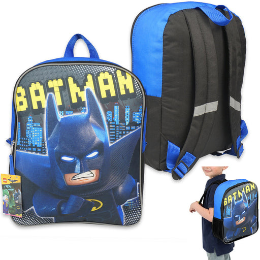 "1 Batman Lego Movie Backpack 15"" Kids Book Bag School Supplies Boys Back Pack"