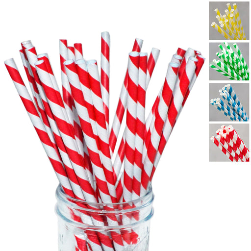 90PC Paper Straws Drink Crafts Biodegradable Birthday Party Decor Weeding Supply