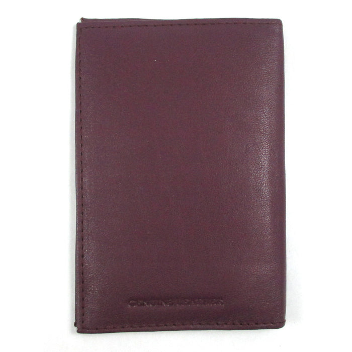 Violet Leather Passport Cover Holder Wallet Case Pass Port Travel US Emblem Gold