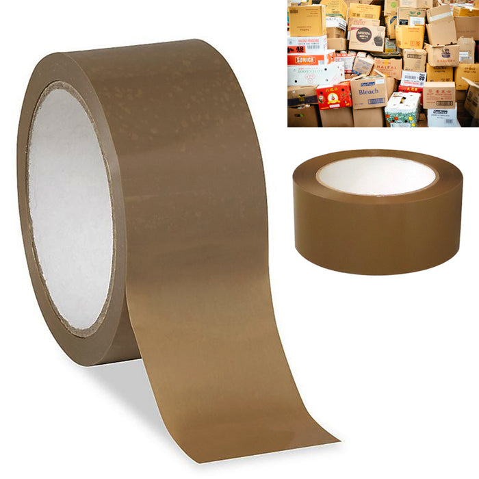 "18 Rolls Tan/Brown Packing Tape 1.89""x54 Yards Carton Box Sealing Tapes Shipping"