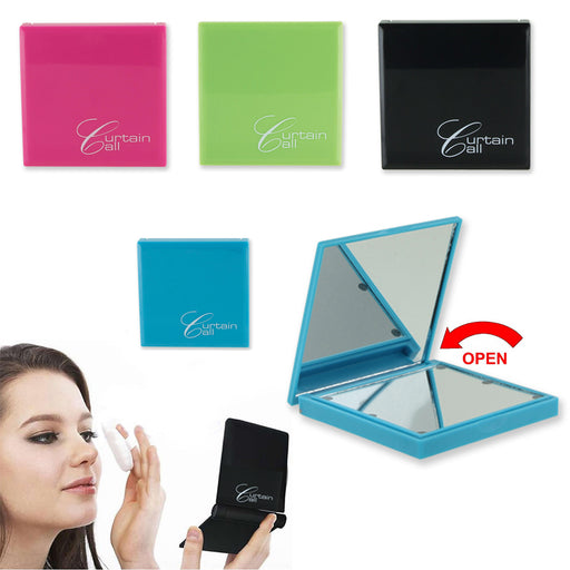 1 Makeup Cosmetic Folding Portable Compact Pocket Book Purse Mirror w LED Light