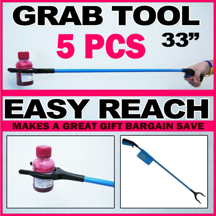 "5 Pc Easy Reach Grab Grabber Pick Up Reaching 31"" Tool Stick Extend Reacher Gift"