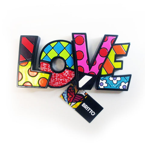 1 Romero Britto Mini Love Word Authentic Figurine Gift Table Sculpture Wall Art