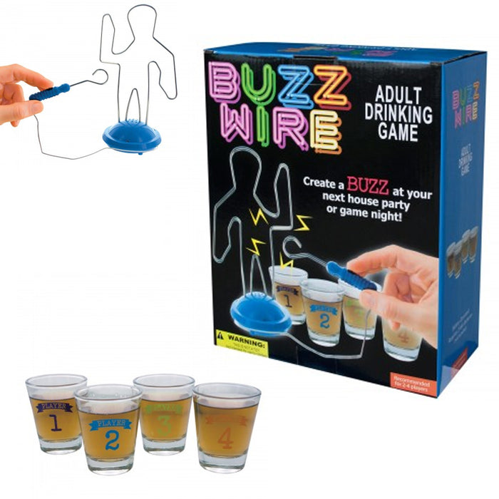 Buzz Wire Drinking Game Party Adult Novelty Shot Glasses Stocking Gift Fun Drink