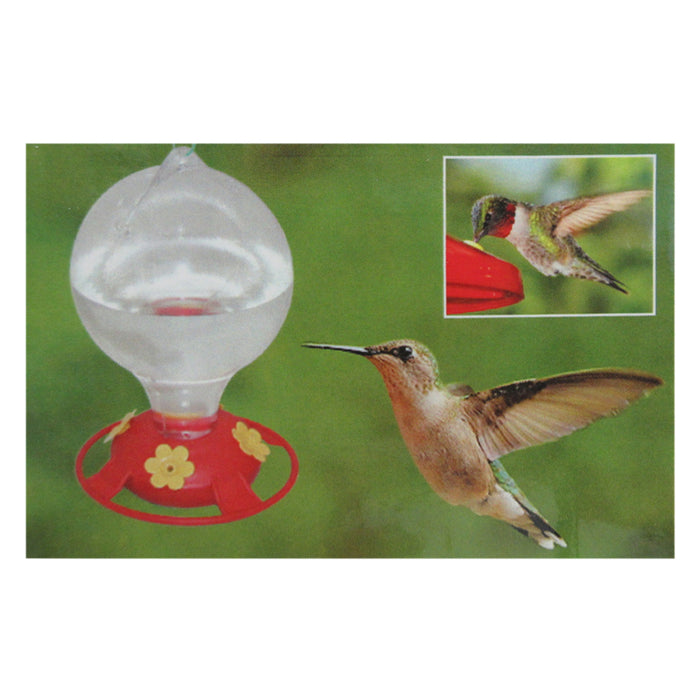 2 Pack Hummingbird Nectar Flower Feeder 20 oz Hanging Garden Outdoor Patio Clear