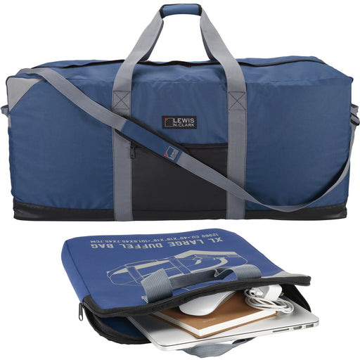 "40"" Blue Heavy Duty Polyester Waterproof Jumbo Duffel Bag Luggage Suitcase Safe"