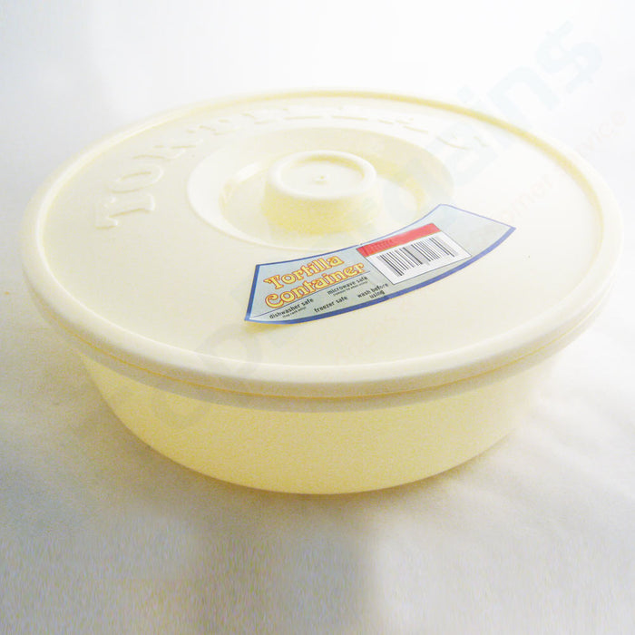 "Tortilla Container Keeper Microwave Warmer 8"" Round Pita Taco Warm Flatbread New"