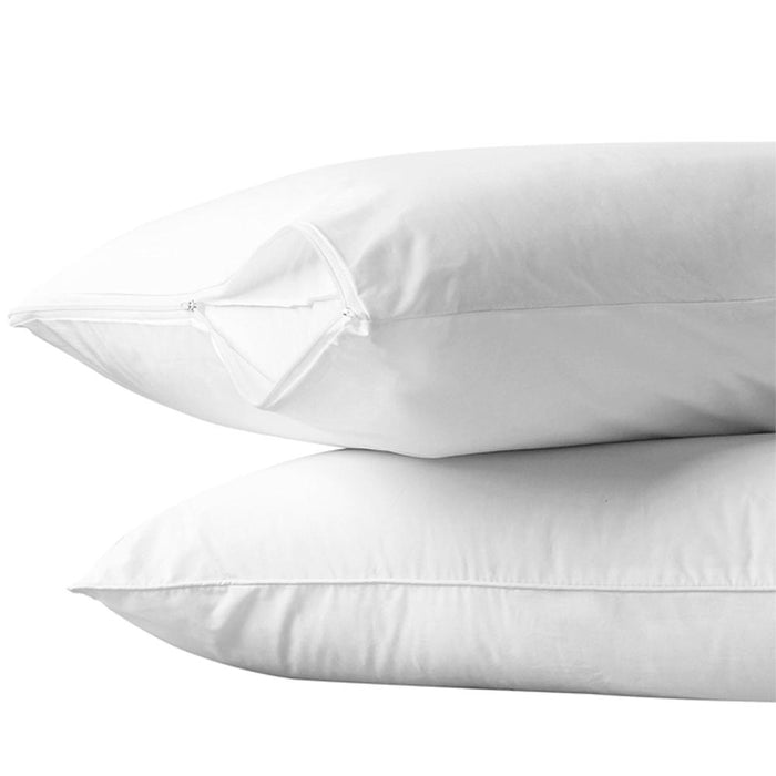 24 White Hotel Pillow Plastic Cover Case Waterproof Zipper Protector Bed 21 X 27