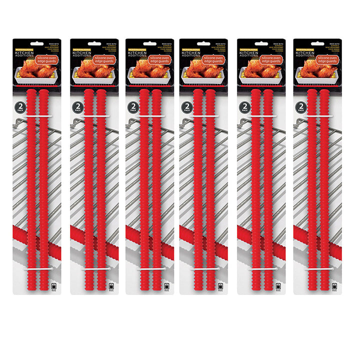 12 Pack Silicone Oven Guard Rack Edge Push Clip Heat Resistant Helps Avoid Burns