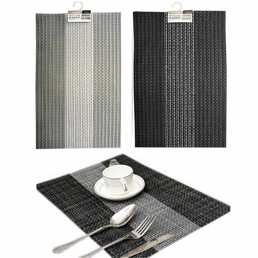 2 Pc Woven Placemat Vinyl Kitchen Home Decor Table Protection Textile Mat