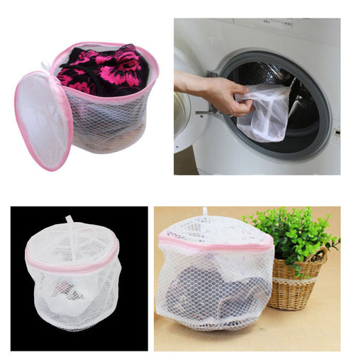 1 Bra Wash Bag Delicate Lingerie Hosiery Tights Stockings Mesh Laundry Women Aid