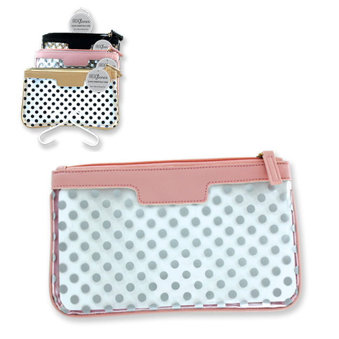 1 Cosmetic Makeup Bag Travel Case Zippered Toiletry Pouch Purse Beauty Organizer