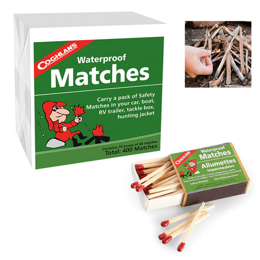 400 Pcs Waterproof Storm Matches Coghlans Windproof Survival Emergency Strikers