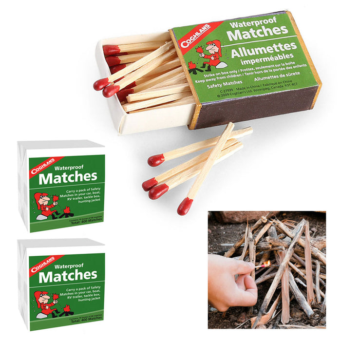 800-Count Coghlan's Waterproof Matches Wooden Emergency Fire Starters Strikers