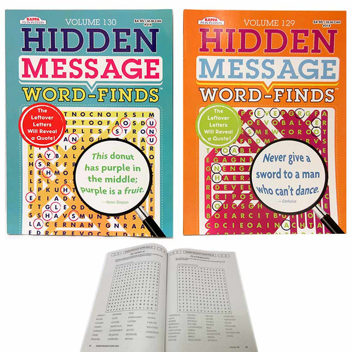 48 X Crossword Puzzle Find Words Hidden Message Traveling Book Pages Letters Fun