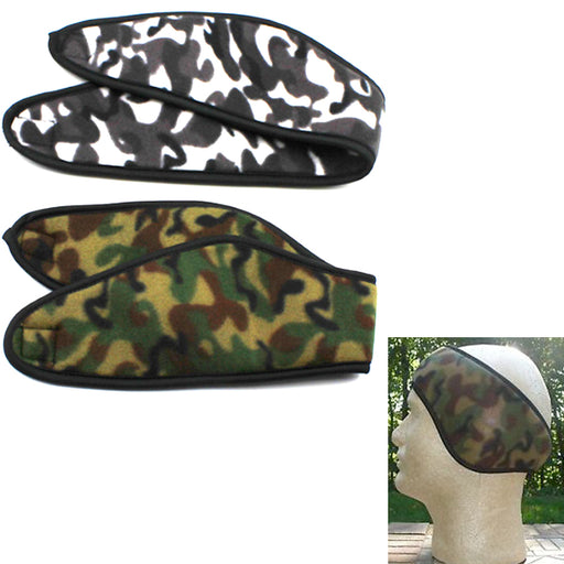 2 Camo Ear Warmer Head Band Polar Fleece Ski Ear Muff Unisex Stretch Winter Hat