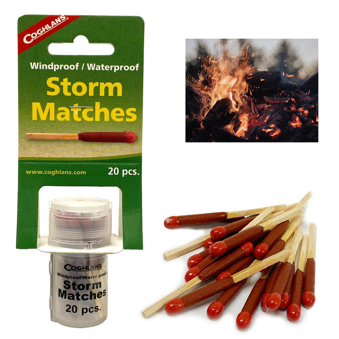 20 Pcs Storm Matches Waterproof Stormproof Coghlans Windproof Survival Emergency