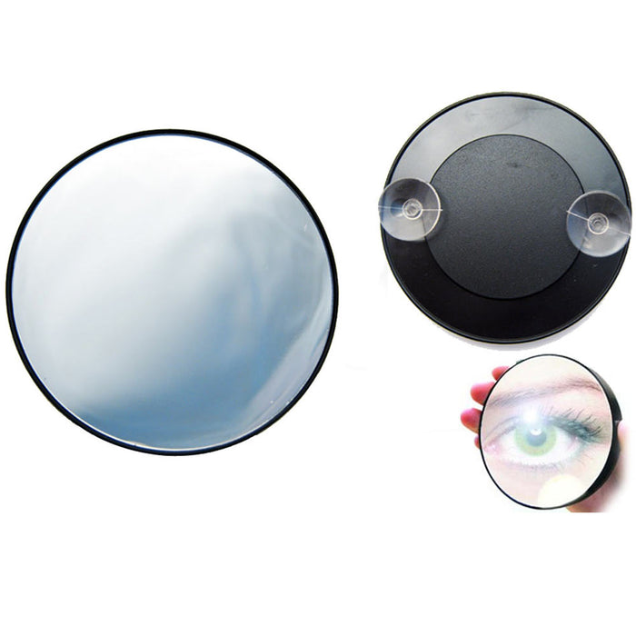 Magnifying Mirror 15X Suction Cup Makeup Compact Cosmetic Face Care Shave Travel