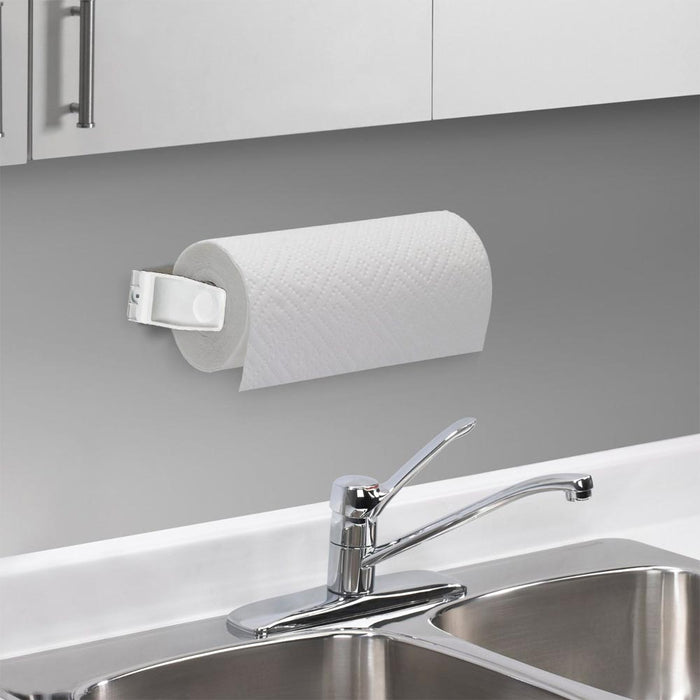 Paper Towel Roll Holder Dispenser Wall Mount Cabinet Kitchen Houseware Plastic !