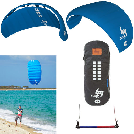 HQ Rush V 200 Trainer Power Kite Surf Foil Kitesurfing Boarding Bar Water Sports