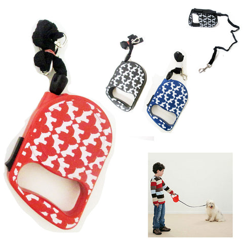 11 Ft Retractable Dog Leash Lock Leads Walk Run Puppy Design Up To 66 Lbs New !