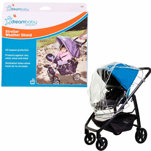 Waterproof Stroller Rain Cover Weather Shield Snow Wind Bug Canopy Universal Sz