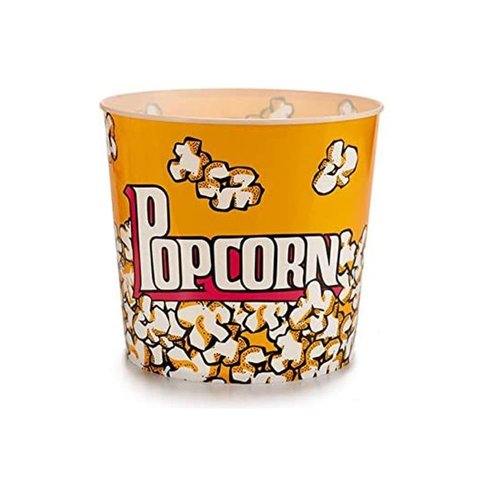 1 Retro Style Reusable Popcorn Bowl Plastic Container Movie Theater Bucket 8.5""