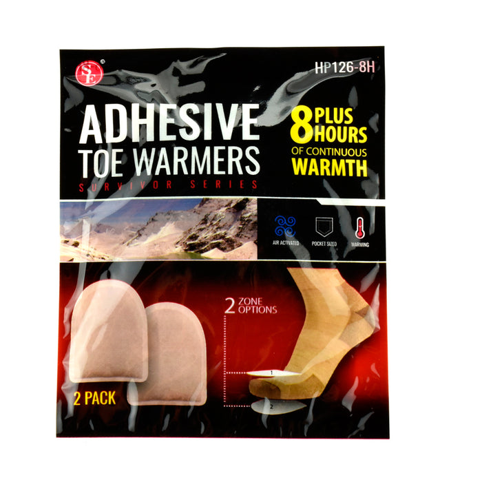 6 Pair Adhesive Toe Warmer 8 Hour Pure Heat Air Activated Foot Insole Hot Feet