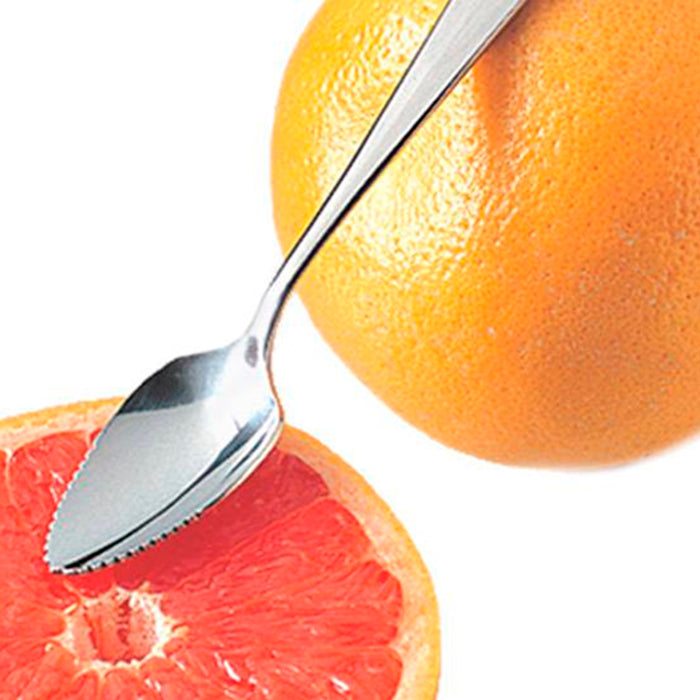 12 Lot Grapefruit Long Spoon Thick Stainless Steel Serrated Edge Citrus Fruits