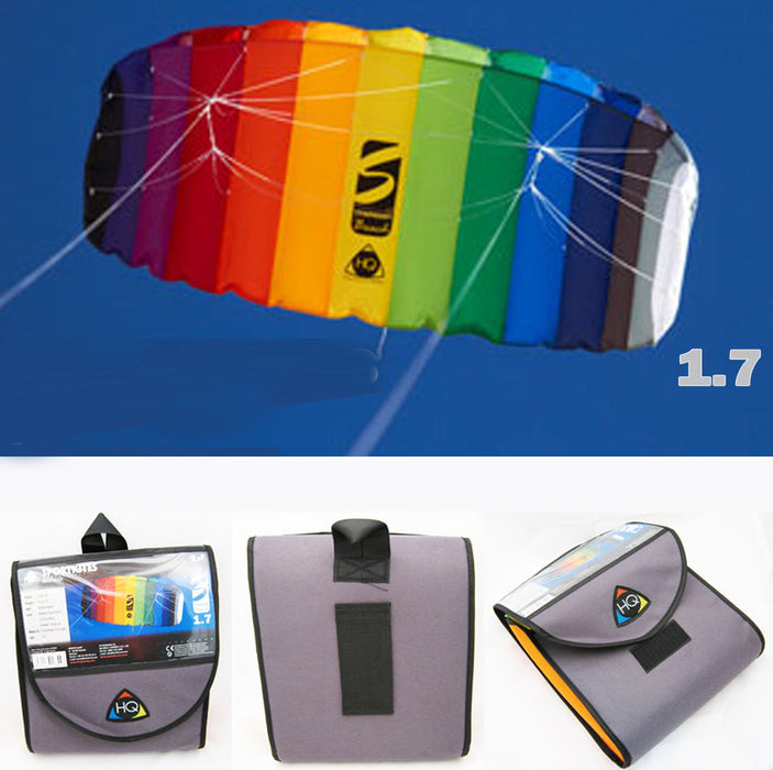 HQ TRAINER POWER KITE 1.8 W/ CONTROL BAR SYMPHONY BEACH