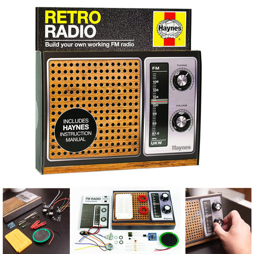 Haynes Retro Radio Kit Build Your Own Working Vintage FM Radio DYI Play Audio