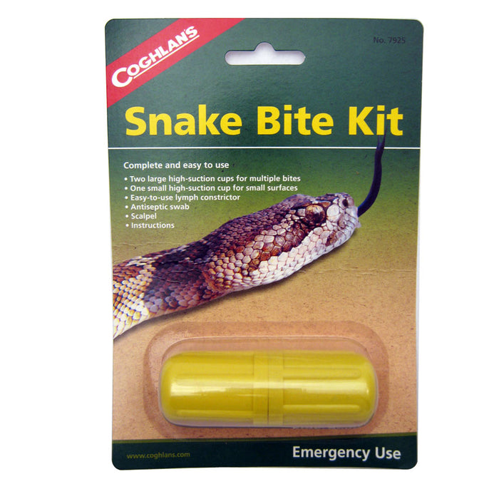 Coghlans Emergency Snake Bite Kit Camping Hiking Survival Aid Disaster Bug Out