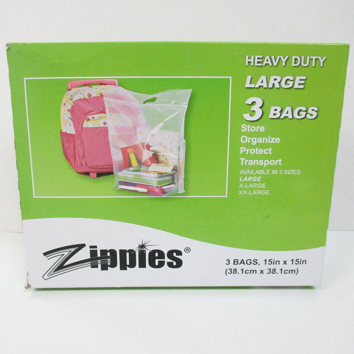 3 Clear Large Bags 15x15 Storage Clothes Shoes Cover Dust Travel Storage