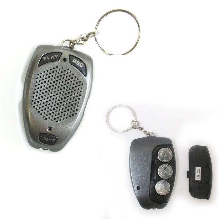 1 Digital Voice Recorder Keychain 10 Seconds Led Flashlight Playback Recording