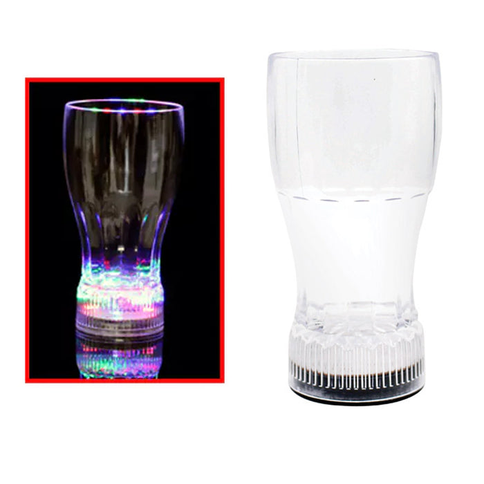 2 X Jumbo LED Flashing Light Cup Shot Drink Plastic Glass On Off Party Wedding
