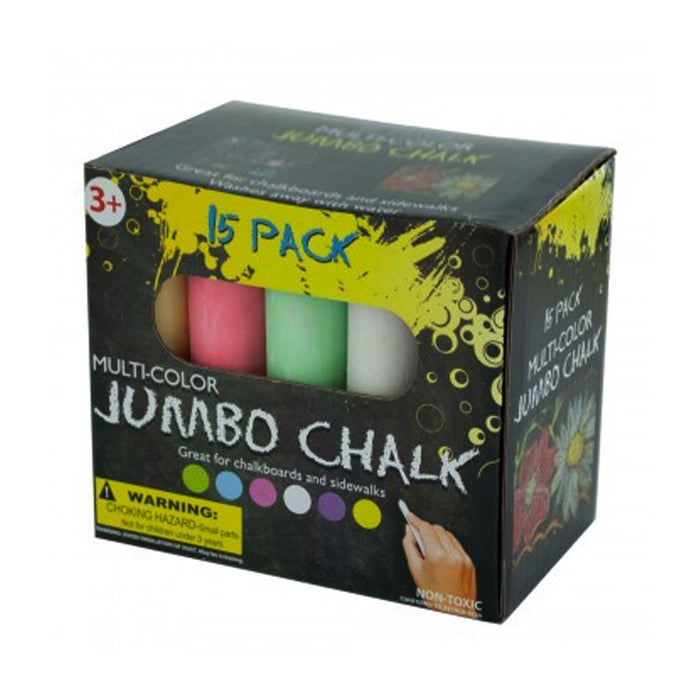 15 Pc Jumbo Washable Chalk Sidewalk Set Playground Outdoor School chalk Sticks