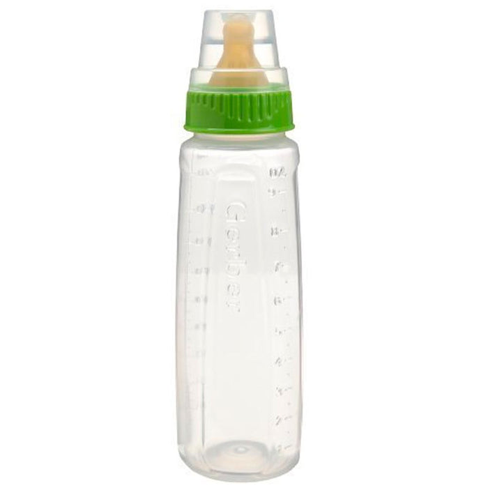 3 Gerber Baby Bottle BPA Free First Essentials 9Oz Leak Proof Vented Nipple Girl