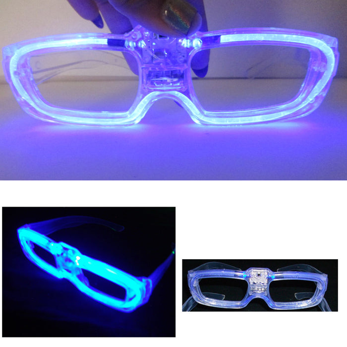 1 Light Up EDM Glasses LED Flashing Blinking Sunglasses Rave Party Club Disco Dj