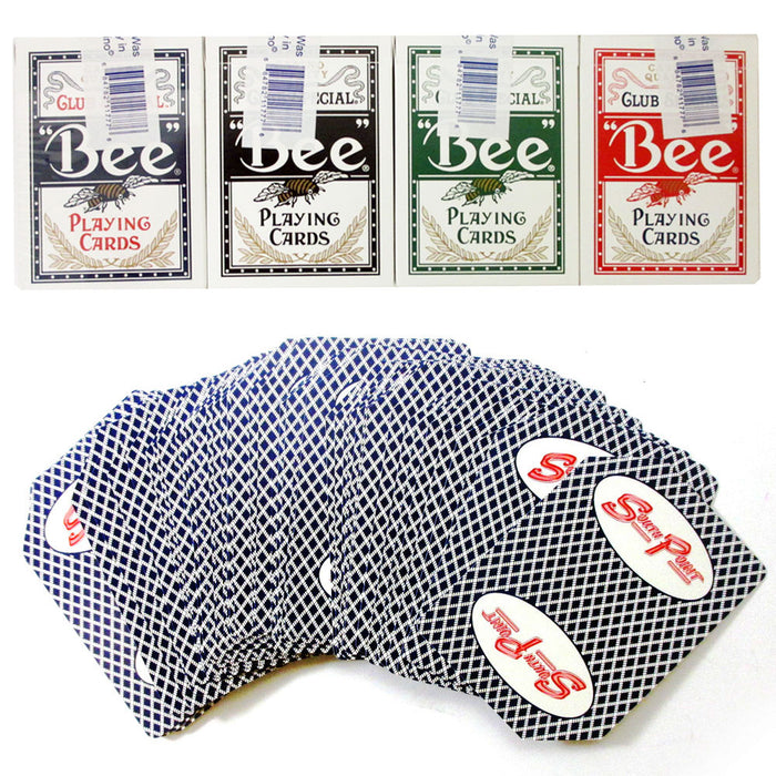 12 Decks BEE Casino Used Playing Cards Poker Case Club Special Cambric Finish