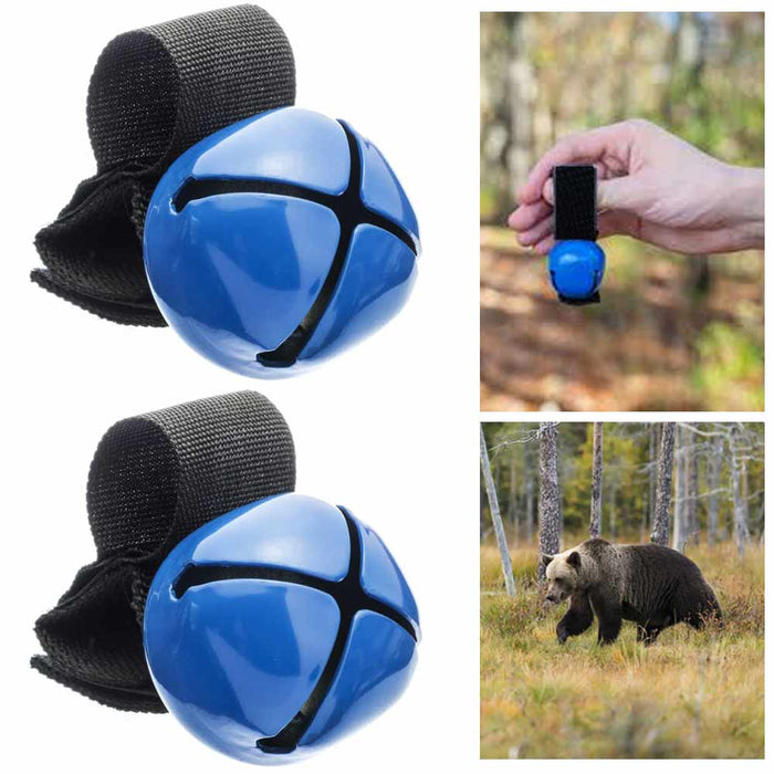 2 Magnetic Strap Anti Bear Bell Silencer Wild Life Animals Camping Hiking Safety