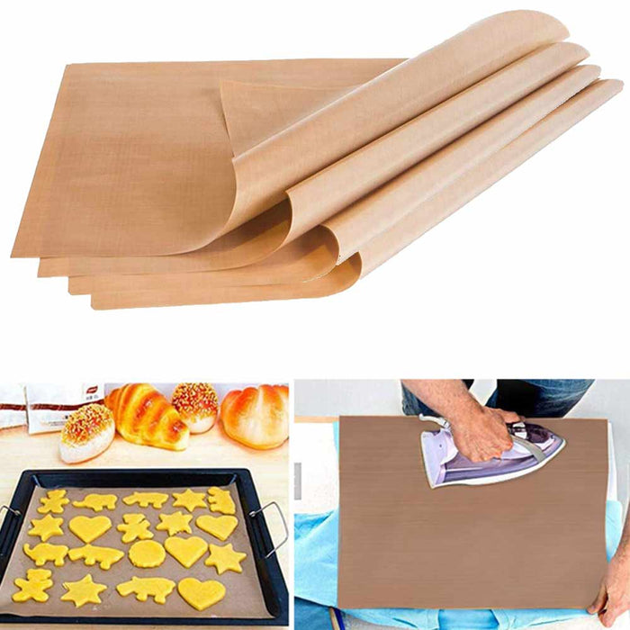 "4 Pc Sheet Heat Press Oven Transfer PTFE Coated Non Stick 16"" x 20"" 5mil"